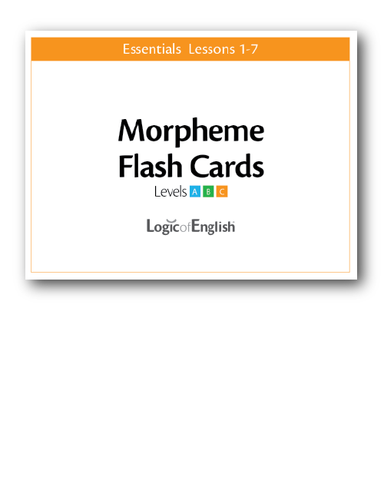 Logic of English Essentials Lessons 1-7 Morpheme Cards