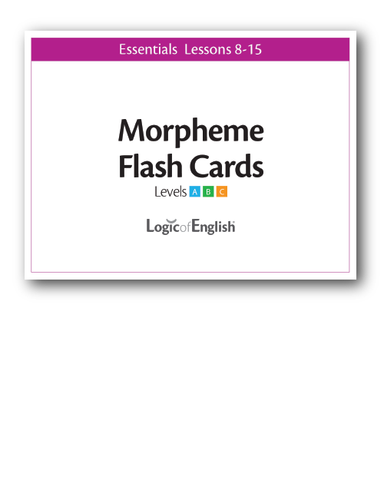 Logic of English Essentials Lessons 8-15 Morpheme Cards