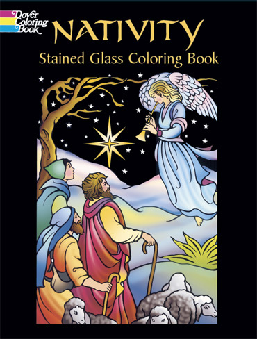 Nativity Stain Glass Coloring (price includes US S&H)