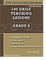 Easy Grammar Ultimate 8 - 180 Daily Lessons, Student Book