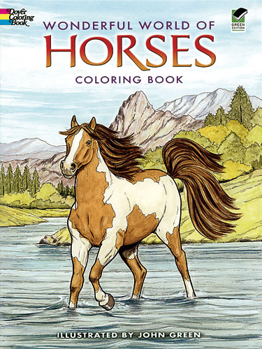 World of Horses Coloring Book (price includes US S&H)