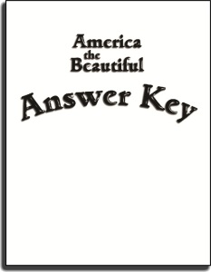 America the Beautiful - Answer Key