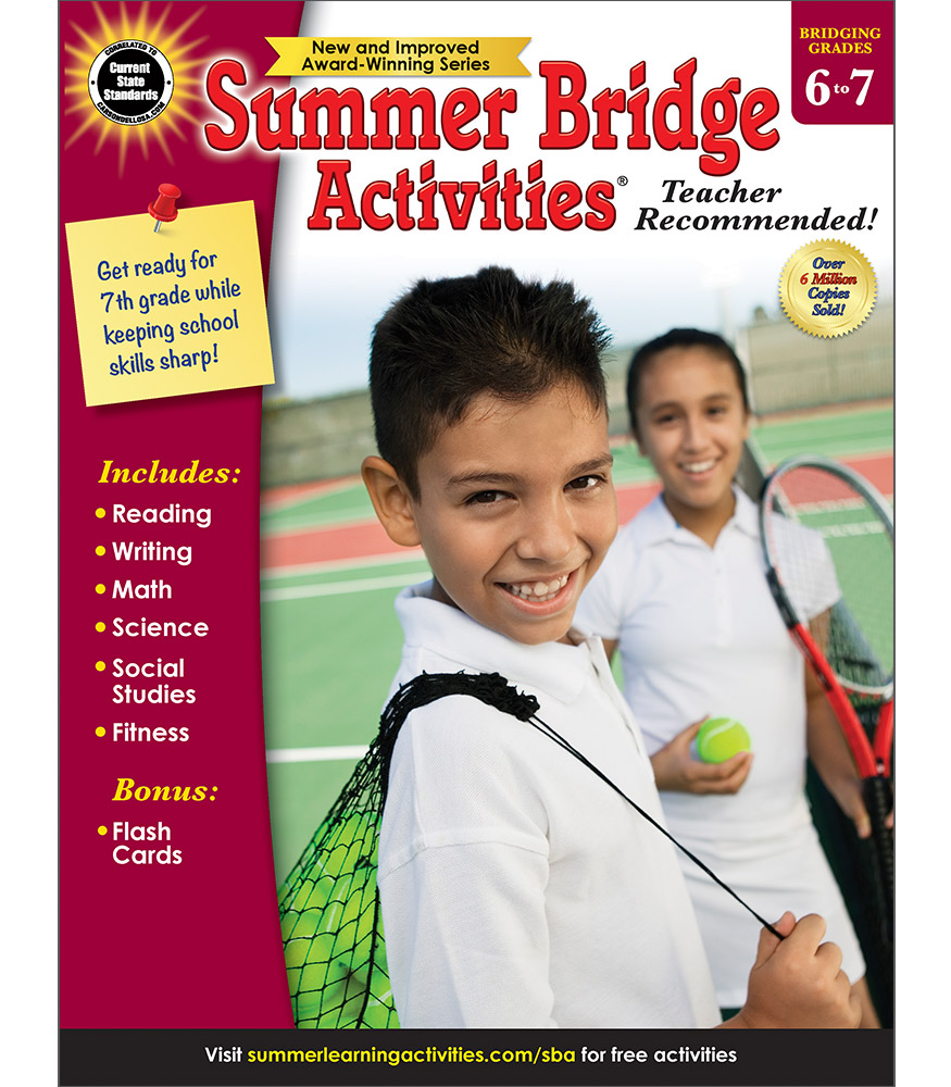 Summer Bridge Activites - Bridging Grades 6 to 7 [4010