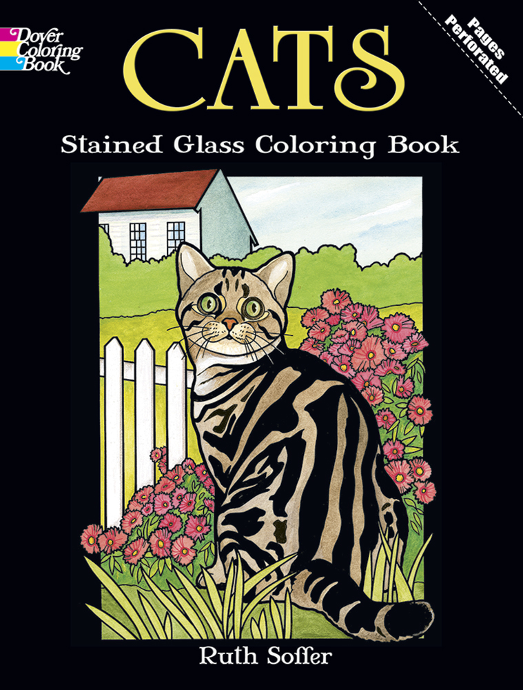 Cats Stained Glass Coloring (price includes US S&H)