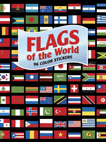 Flags of the World Sticker Bk (price includes US S&H)