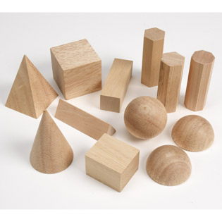 Wooden Geometric Solids (price includes US S&H)