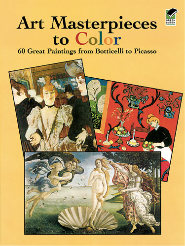 Art Masterpieces to Color (price includes US S&H)