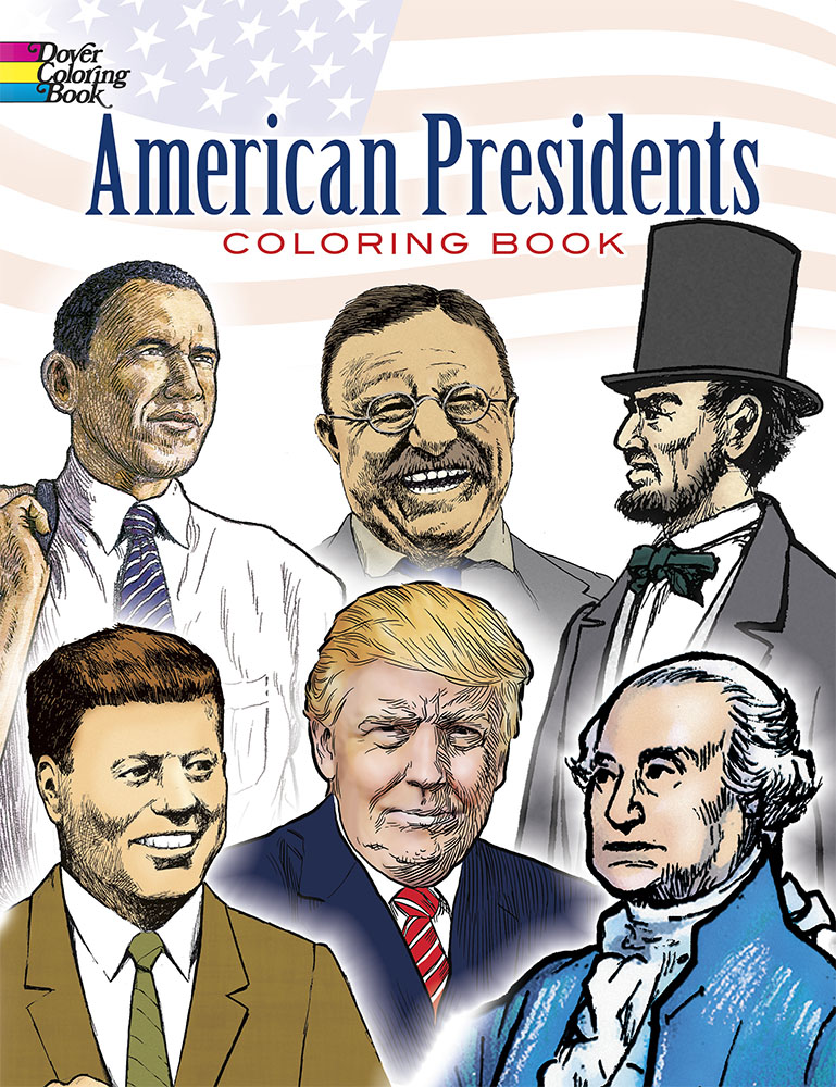 American Presidents Coloring (price includes US S&H)