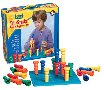 Tall Stacker Pegs & Pegboard (price includes US S&H)